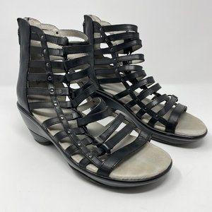 Jambu Brookline Wedge Sandal Black Gladiator